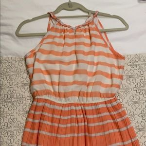 Madison Jules striped coral dress, XS